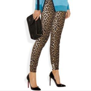 3.1 Phillip Lim leopard print track knit pants S